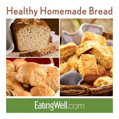 Enjoy freshly baked bread, rolls and biscuits with these healthy homemade bread recipes.
