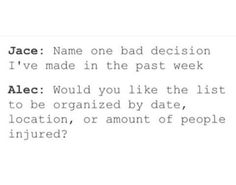Alec and Jace sass