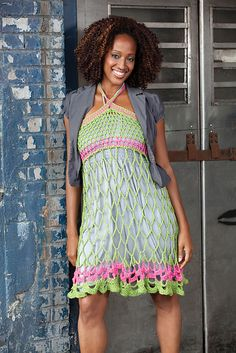 Spring/summer dress by Erika and Monika Simmons. Stunning!  ~  Vestido primaver/verano - hecho por Erika y Monika Simmons. ¡Os ha quedado precioso!