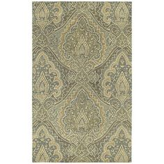New living room color pallet... St. Joseph Sage Damask Hand-tufted Wool Rug (8' x 10') | Overstock.com Shopping - Great Deals on 7x9 - 10x14 Rugs