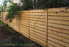 Horizontal Wood Fence I like the vertical slats