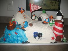 Little Miss Muffins Cakes!: Club Penguin Birthday Cake