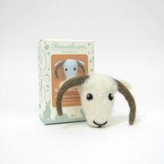 Needle Felting Brooch Kit - Shetland Sheep