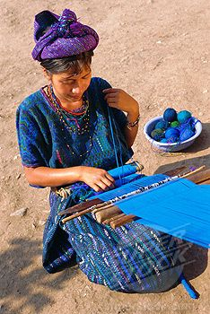 SuperStock - Girl weaving traditional huipil, Santa Caterina Papopo, Guatemala, Central America