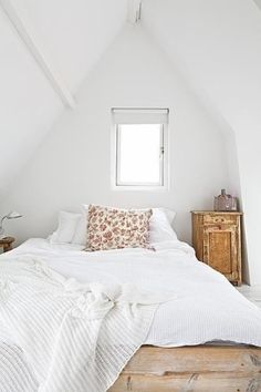 Light White attic room