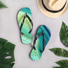 nat. seaweeding flip flops Summer On You, Flamboyant, Saturated Color, Textile Prints, Black Rubber, Staycation, Deep Blue, 9 And 10, Soft Fabrics