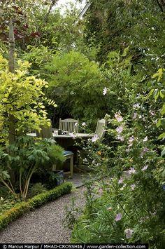 sheltered garden retreat