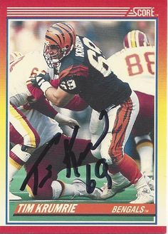 Tim Krumrie AUTOGRAPHED Football Trading by FloridaFindersSports, $5.00