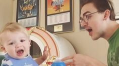 This is the sweetest! A dad and his cute one-year-old son sing a duet