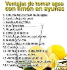Ventajas de tomar agua con limón en ayunas