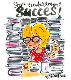 Start eindexamens. SUCCES! -Blond Amsterdam 2016