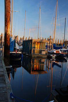 Houseboat in Port Townsend, WA  33729 by pdxsean, via Flickr