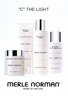 Merle Norman's Brilliant-C skincare line is the answer to dullness, discoloration, and age spots.