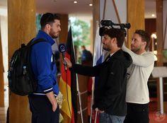 Roma CEV 2017 arrivo in hotel e intervista