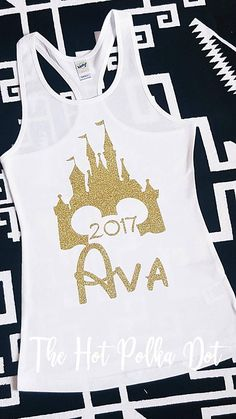 Girls Disney 2017 Castle Tank Personalized with #clothing #children #girl @EtsyMktgTool http://etsy.me/2hWKqaJ