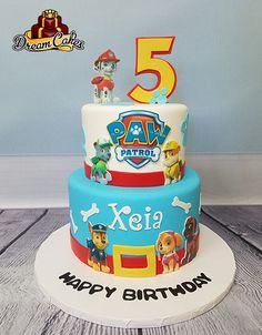 Paw Patrol by Dream Cakes Chicago Paw Patrol Theme Party, Paw Patrol Party Decorations, Paw Patrol Birthday Cake, Torta Paw Patrol, Paw Patrol Cake Toppers, 75th Birthday Parties, 3rd Birthday Cakes, Cake Chicago, Torte Cake