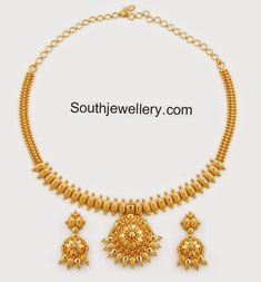 45 Ideas for jewerly design necklace simple - Halskette Ideen Gold Necklace Simple, Gold Jewelry Simple, Necklace Set, Gold Necklaces, Gold Bangles, Golden Jewelry, Gold Earrings Designs, Gold Jewellery Design, Indian Gold Necklace Designs