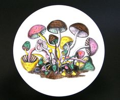 RARE Piero Fornasetti Hand Painted Plate Funghi Series | eBay