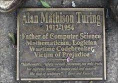 Alan Turing-Victim of Prejudice (Önyargıların kurbanı) Alan Turing Machine, Computer Science, Mathematics, Icons, Culture, History, People, Men, Image