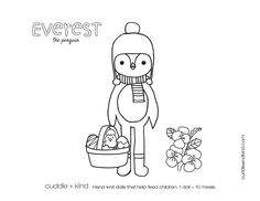 cuddle+kind everest the penguin colouring sheet. www.cuddleandkind.com Colouring Sheets, Coloring Sheets For Kids, Coloring Books, Kids Colouring, Easter Coloring Pages, Free Coloring Pages, Printable Coloring, Cute Kids Crafts, Toddler Crafts