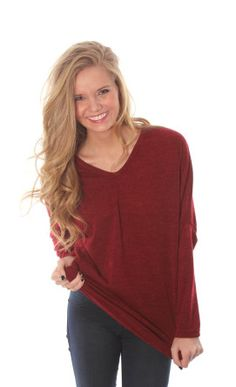 busy V tunic sweater