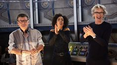 The making of The Doctor Falls  Steven, Pearl and Peter cheer the fantastic crew!