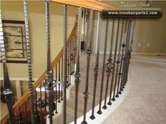 High quality powder coated iron stair parts Iron Stair Spindles, Iron Balusters, Railings, Parts Of Stairs, Metal Stairs, Staircase Makeover, Types Of Houses, Wood And Metal, Decorating Your Home