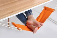 Um, this is a hammock for your feet.