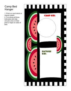 Camp Bed Hanger Watermelon