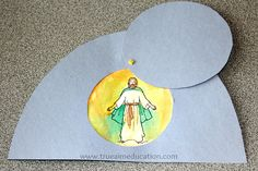 """Easter craft for kids...I may have the kids to theirs without Jesus in the tomb, but the words, """"He is risen!"""""""