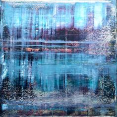 Rendevouz Oil on Wood Panel Wood Paneling, Oil On Canvas, Saatchi Art, Original Paintings, Abstract Art, The Originals, Water, Artist, Van
