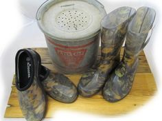 I want these exact pair of Mossy Oak Camo Sloggers to slip on and go out in the mud with so I don't ruin my boots anymore and constantly have to scrub em!