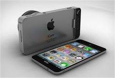 iCam is the vision of Italian designer Antonio DeRosa, the idea is to have a device that attaches to the iPhone 5
