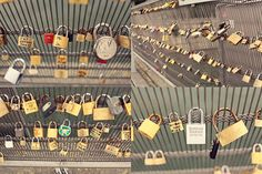 """This is a bridge in Paris called the """"Lover's Lock Bridge."""" You hang locks on it with the name of you & your boyfriend/girlfriend/best-friend then throw the key into the river. So even though the friend/relationship may end, you can't remove the lock. It stays there forever, as relevance to someone once a part of your life."""