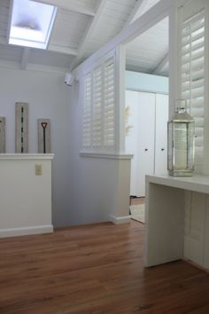 Area dividing shutters, giving privacy and airy feel all at once. www.sunkistshutters.com Riverside, CA