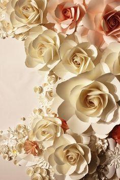 Fototapeta Beżowe papierowe kwiaty Islamic Art Pattern, Pattern Art, Home Wallpaper, 3d Wall, Natural, Magnolia, Flowers, Plants, Projects