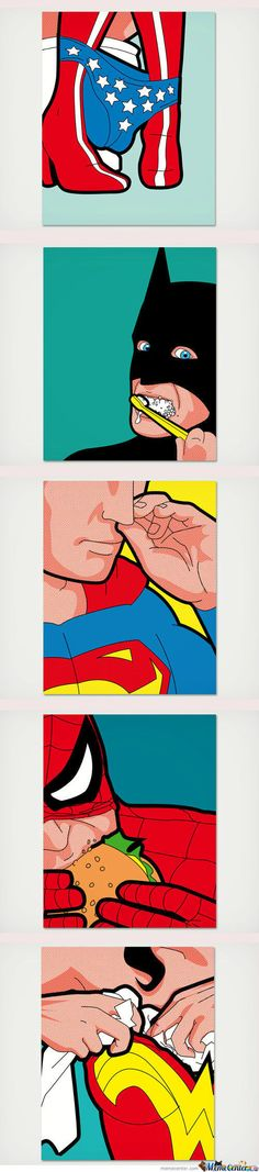 Superman probably has super rocket meteor boogers or some dumb thing like that.