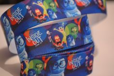 Inside Out Ribbon, 5 yards, 7/8 inch wide, Hair bow ribbon, Scrapbook ribbon, Grosgrain ribbon by LusterClusterHairbow on Etsy