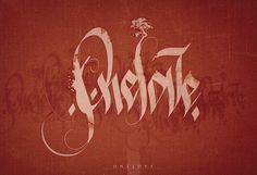 /// Calligraphies /// by Alexis Persani, via Behance