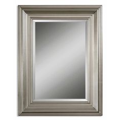 Add a vibrant yet tasteful update any living space with this beveled Mario mirror. A generously sized mirror is framed by a detailed, solid wood frame with a silver leaf finish.