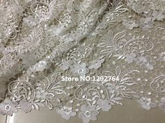 Free shipping!! Beautiful Hot sale New Fashion Guipure/ cupion/ chemical Lace white fabric for wedding dress ,TS1290
