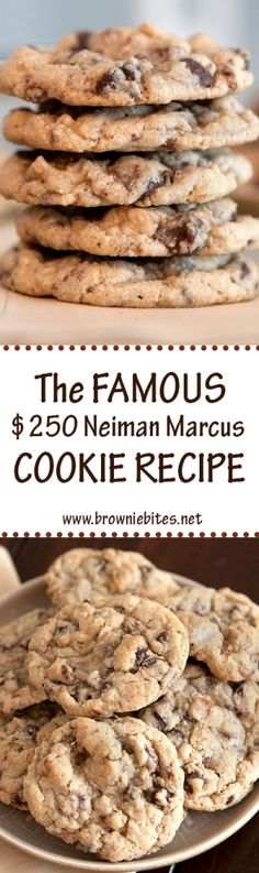 The famous $250 Neiman Marcus Cookie Recipe. Who doesn't love a good urban legend? Recipes are so much more fun when there's a good story behind them! And on top of that, these cookies happen to be completely amazing.