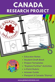 Canada Research Project Distance Learning Geography Of Canada, Geography For Kids, World Geography, Cooperative Learning Groups, Learning Centers, Leadership Activities, Teacher Resources, Group Activities, Elementary School Counseling