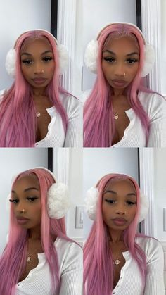 Baddie Hairstyles, Black Girls Hairstyles, Cute Hairstyles, Straight Hairstyles, Black Girl Aesthetic, Aesthetic Hair, Curly Hair Styles, Natural Hair Styles, Pretty Black Girls