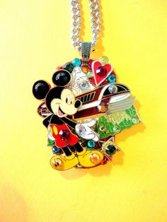 Mickey And The Monorail Dog Tag Pendant Number 874 by BradosBling, $34.99  bradosbling.com