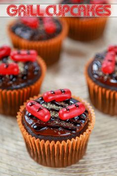 Grill Cupcakes | These grill cupcakes are as tasty as they are clever!