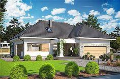 Projekt domu Padme 139,65 m2 - koszt budowy - EXTRADOM Village House Design, Village Houses, Mansions, Architecture, House Styles, Outdoor Decor, Home Decor, Trendy Tree, Arquitetura
