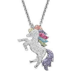 Artistique Crystal Sterling Silver Unicorn Pendant Necklace (524.740 COP) ❤ liked on Polyvore featuring jewelry, necklaces, accessories, unicorn, white, swarovski crystal pendant necklace, sterling silver pendants, crystal necklace pendant, swarovski crystal jewelry and sterling silver necklace pendant