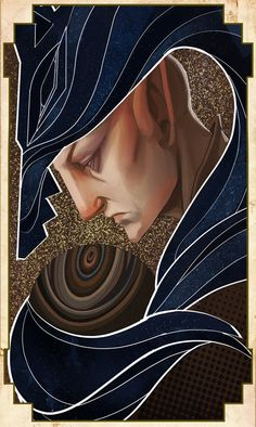 The Trickster: Tarot card by Ivi Draws #DragonAge