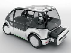 e rx is a battery-powered electric vehicle concept. It mainly features an optional range extender that can be rented at gas stations or car dealerships. Essentially this kit contains all components inside one compact box: combustion engine, exhaust system, cooling unit, and fuel tank. Designer: Maila Thon | via Yanko Design